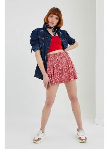 Z Giyim İp Askılı Pamuklu Büstiyer Kırmızı